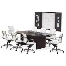 Racetrack Boardroom Table 6 U0027 Racetrack Conference Table With Slab Base 8 Colors