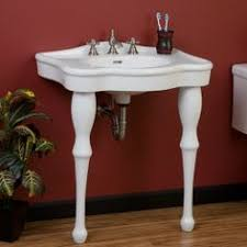 kingston brass console sink porcher lutezia 27 console sink kit wayfair deco décor for nyc