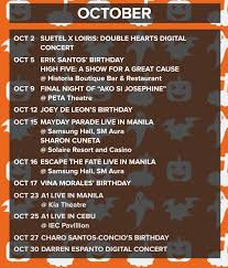 mark these october events on your calendar one music ph