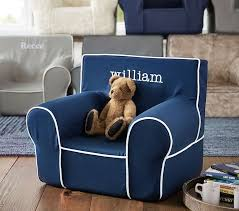 Pottery Barn Kids My First Chair Navy With White Piping Anywhere Chair Pottery Barn Kids
