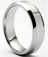 beveled ring beveled tungsten ring polished 8mm men beveled tungsten ring 8mm