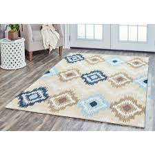 Brown And Turquoise Area Rugs Laura Hill Marrakech Hemp Rug Size 5 X 8