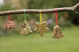 diy shaped bird seed decorations threaplands garden