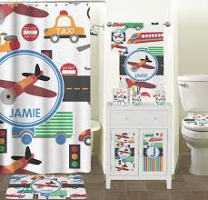 halloween shower curtain set transportation shower curtain personalized potty training concepts