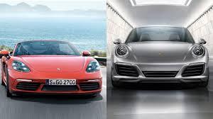 porsche boxster vs 911 2017 porsche 718 boxster vs 2016 porsche 911