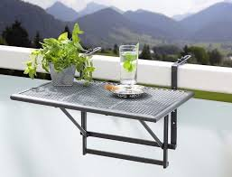 small folding hanging table for balcony patio garden railings
