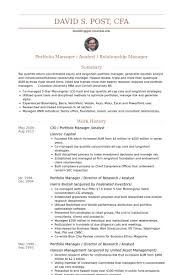Sample Resume For Research Analyst by Portfolio Manager Resume Samples Visualcv Resume Samples Database