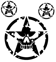 jeep logo drawing military jeep army star circle skull hood decal usmc willys