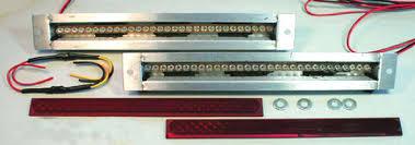 flush mount tail lights street rod parts led flush mount tail lights long 15 1 4 wide