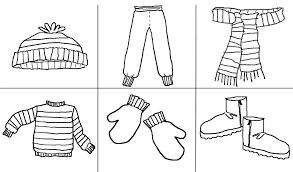 coloring pages about winter clothing coloring pages 9362