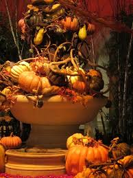 and thanksgiving decoration in bellagio hotel in las vegas