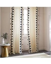 Navy Curtain Bargains On West Elm Embroidered Border Curtain Navy 48 X84