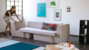 bed options for small spaces one couch with four seating options homes and hues