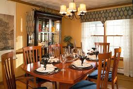 Contemporary Cornices Valances Window Treatments In Dining Room Contemporary With Dining