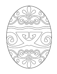 free easter egg coloring pages coloring
