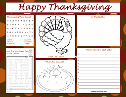 thanksgiving coloring placemats images