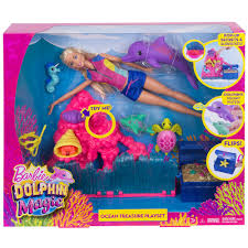 barbie corvette barbie dolphin magic ocean treasure playset mattel toys