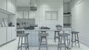 apartment interior 01 3d cgtrader