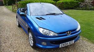 blue peugeot video review of 2004 peugeot 206 cc 2 0 convertible for sale sdsc