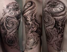 Half Sleeve Arm - pocket sleeve tags bird clockwork half sleeve