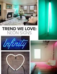 neon lighting for home trend we love neon signs trends we love lonny