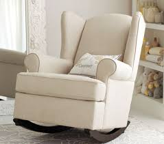 White Rocking Chair For Nursery Furniture Upholstered Glider Rocker Glider Rocking Chair With