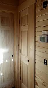 Log Cabin Interior Doors Log Home Under Construction Interior Finishes