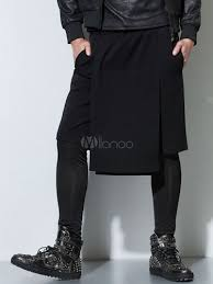 online clothes shopping nylon black stepped wide leg harem pants