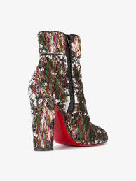 christian louboutin moulamax 100 sequined ankle boots boots browns