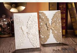 folding wedding invitations butterfly flower laser cut wedding invitations personalized