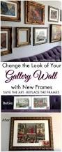 168 best gallery walls and art ideas images on pinterest gallery how to change the look of your gallery wall with new frames