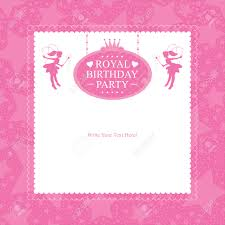 pink invitation card princess birthday invitation card design royalty free cliparts
