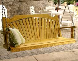 furniture lovely wooden porch swings with holder for home