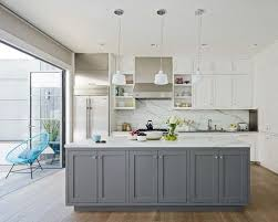 White Backsplash Kitchen by Gray And White Kitchens Houzz