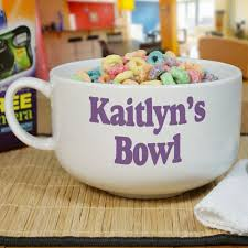 personalized bowl personalized ceramic any message cereal bowl giftsforyounow