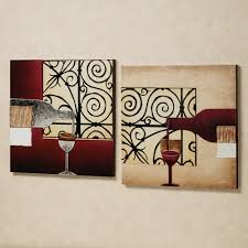 unbelievable kitchen wall decor wine with hooks white metal red