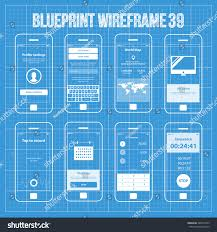 map login mobile wireframe app ui kit 39 stock vector 386474743