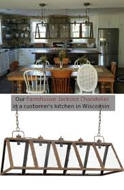 38 best farmhouse style images on pinterest farmhouse style farmhouse style rectangular chandelier so great over old farmhouse table