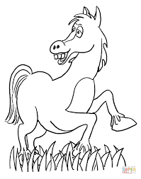 cartoon horse coloring free printable coloring pages