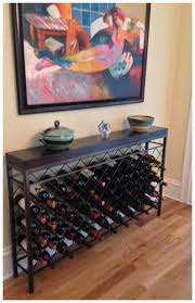 wine rack console table the art of furniture charleston forge handmade metal furniture