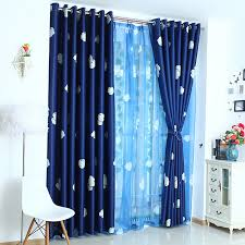Navy Blue Curtains Navy Blue Thick Polyester Thermal Insulated Blackout