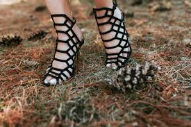 black shapes cupcakes and cashmere caged heels color u0026 chic