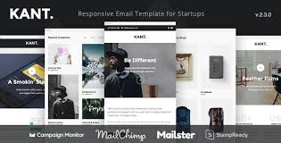 kant responsive email for startups with 50 sections