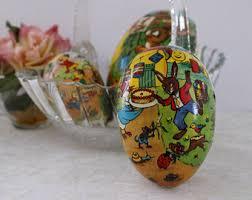 german paper mache easter eggs vintage east germany paper mache easter egg german democratic