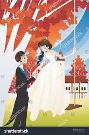 beautiful garden movie happy young wedding couple swing beautiful stock vector 28222861