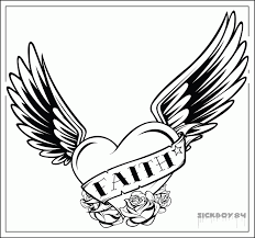 heart wings coloring pages coloring