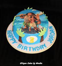 edible print moana theme edible print cake this vegan cakes by monika