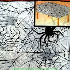 gothic skeletons door cover wall mural scene setters decorations gothic plastic spider web cobweb door table cover cloth white black print horror kitchen dining halloween