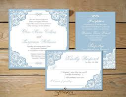 light blue wedding invitations elegant lace wedding invitation suite square invitation light