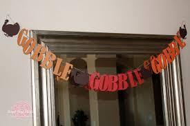 thanksgiving gobble turkey silhouette banner